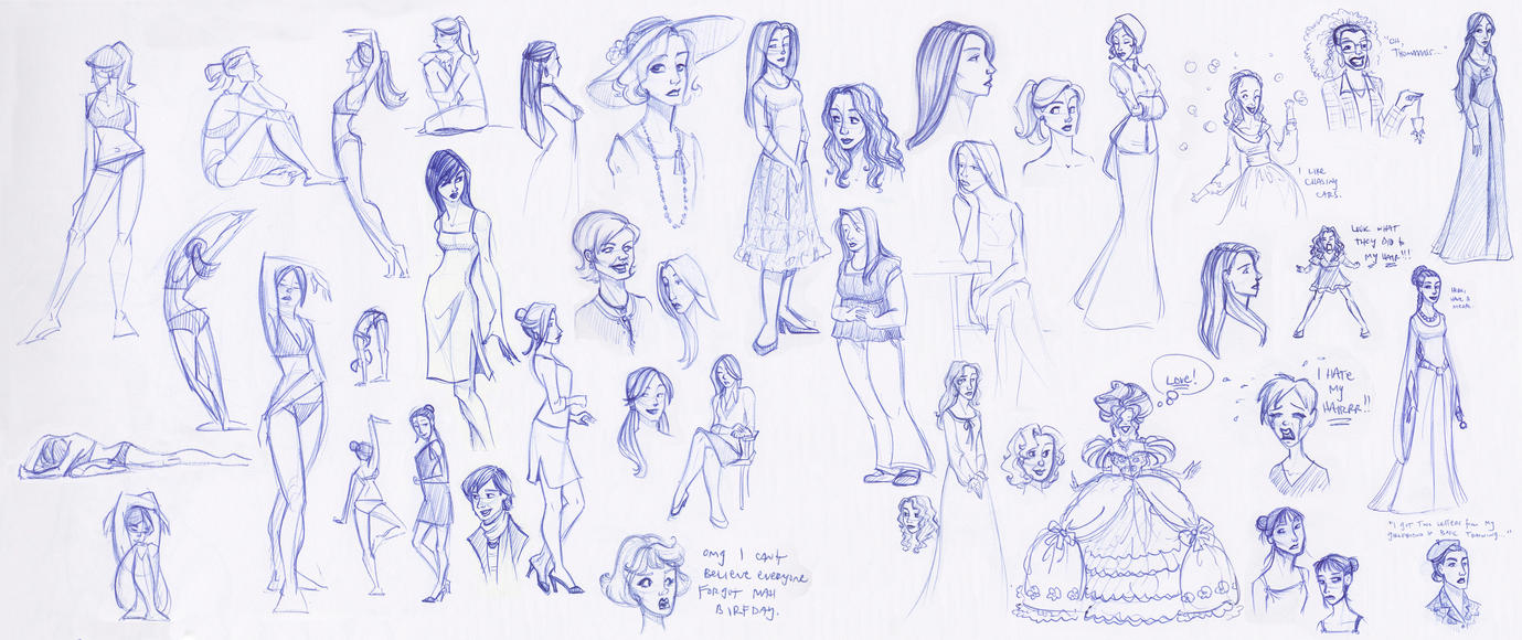 Sketchbook Ladies Splat by kuabci