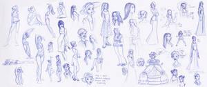 Sketchbook Ladies Splat
