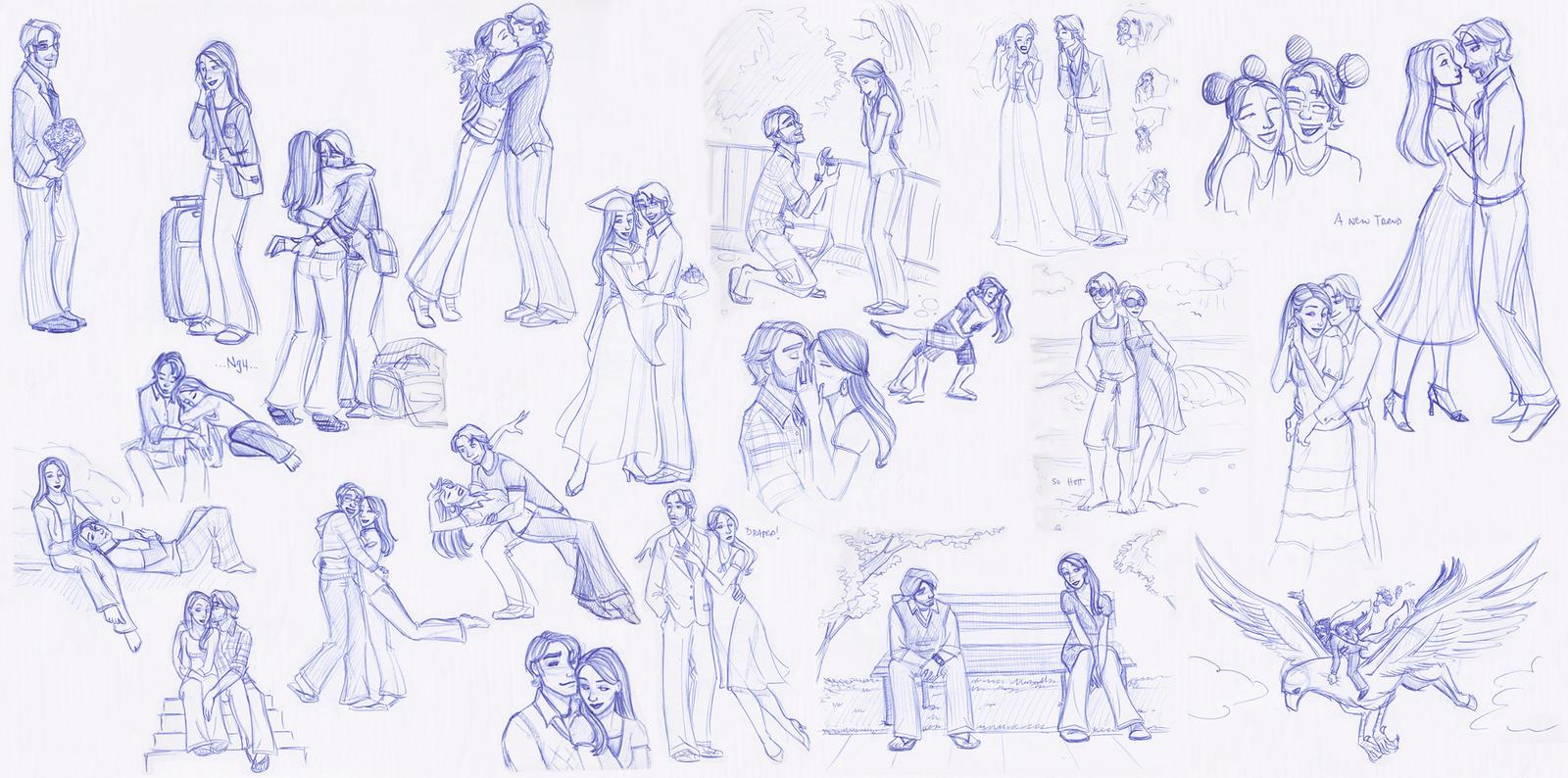 Sketchbook Love Splat by kuabci