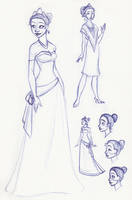 Tiana Sketchbook Montage 2 by kuabci