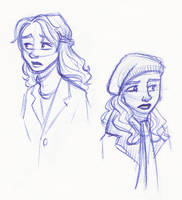 Two Sad Hermiones by kuabci