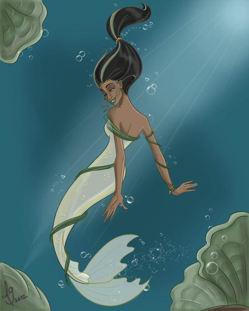 Mermaid In Green By Kuabci On Deviantart