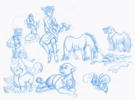 Aesop's Fables Character Designs by kuabci
