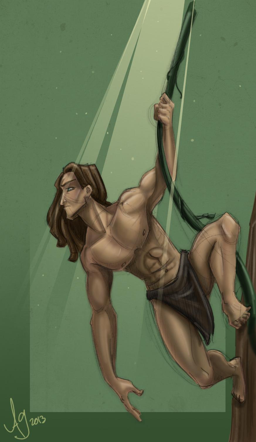 Big Tarzan (Colored) by kuabci