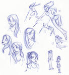 Fiery Redhead Sketches