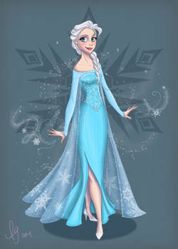 Elsa (Colored) by kuabci