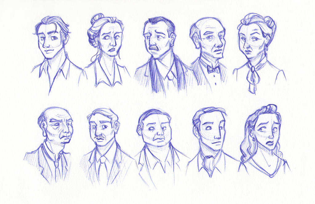 Ten Little People of Indeterminate Ethnicity by kuabci