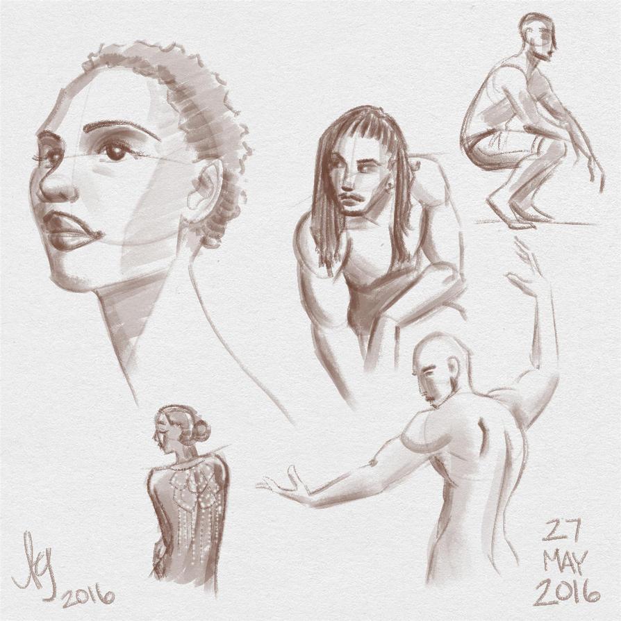 Fresh Figure Drawings 27 May 2016 by kuabci