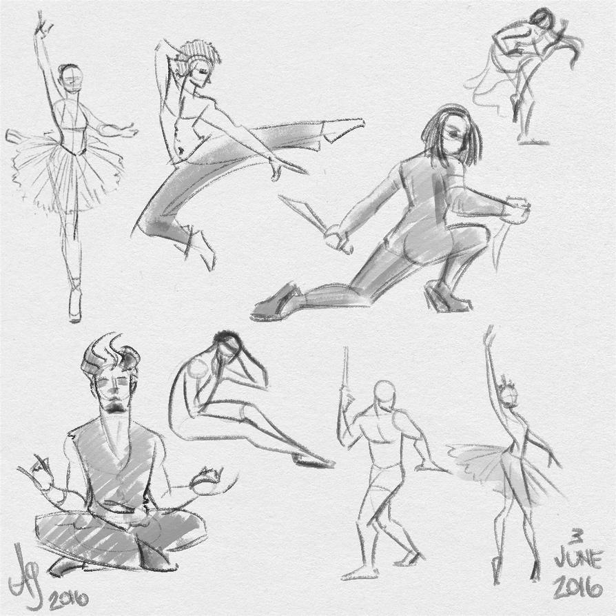 Fresh figure drawings 3 June 2016 by kuabci