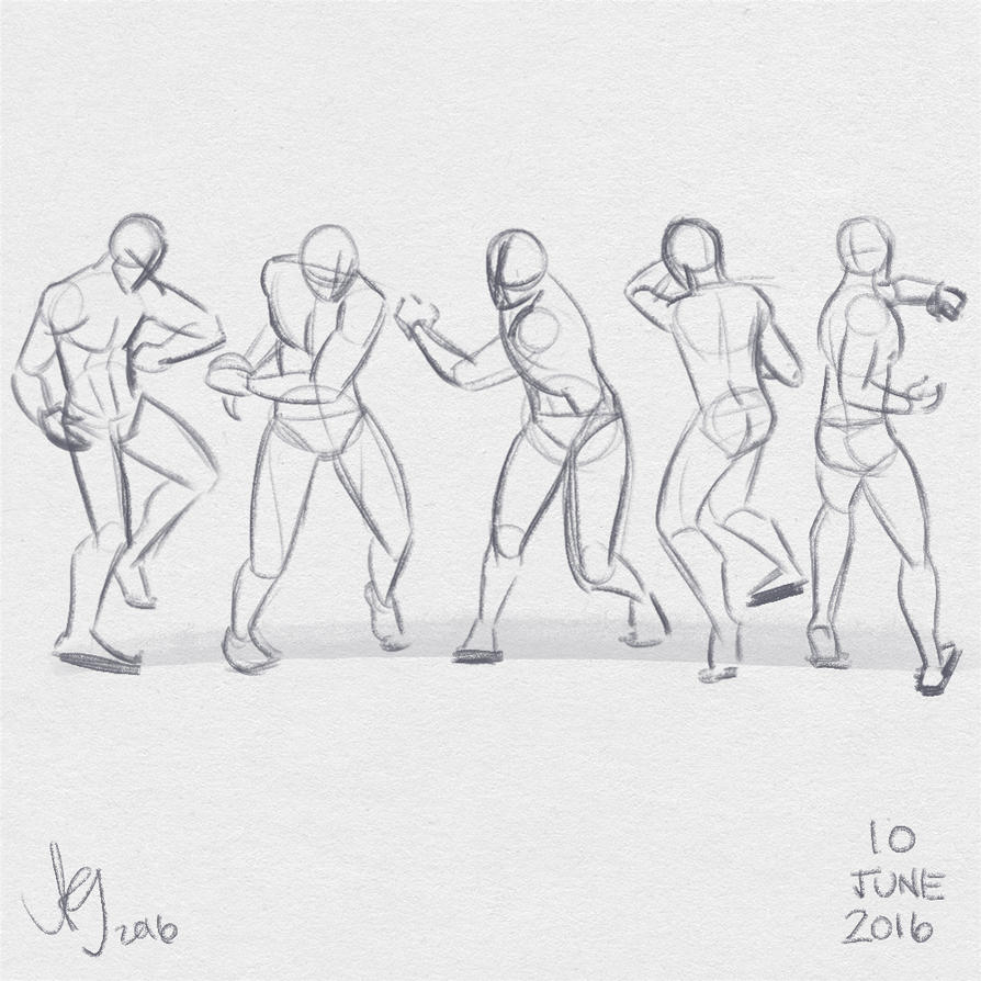 Fresh figure drawings 10 June 2016 by kuabci