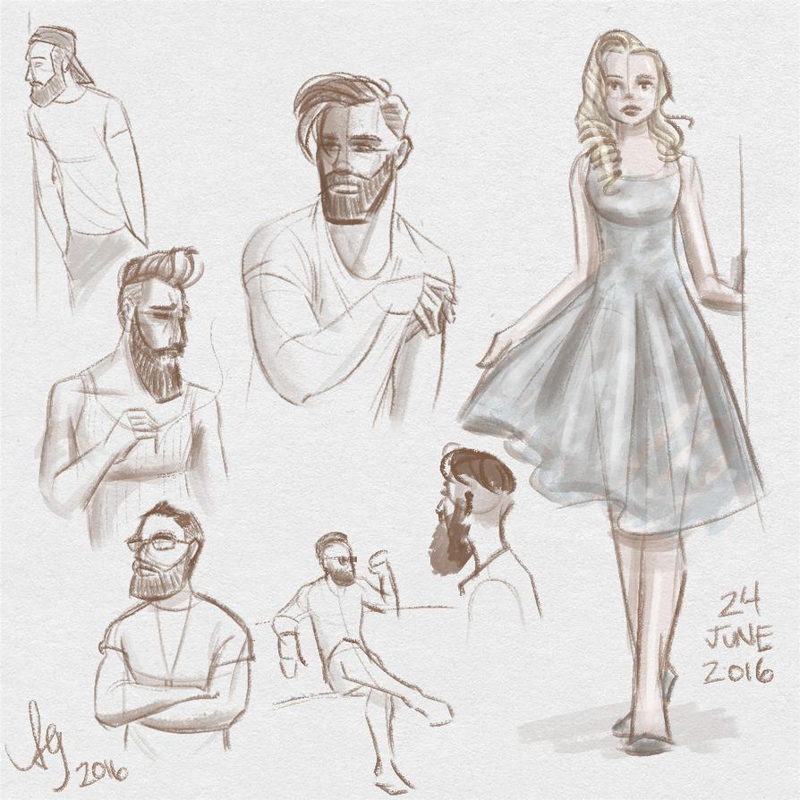 Fresh figure drawings 24 June 2016 by kuabci