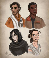 New Kids On the Star Wars Block (Colored) by kuabci