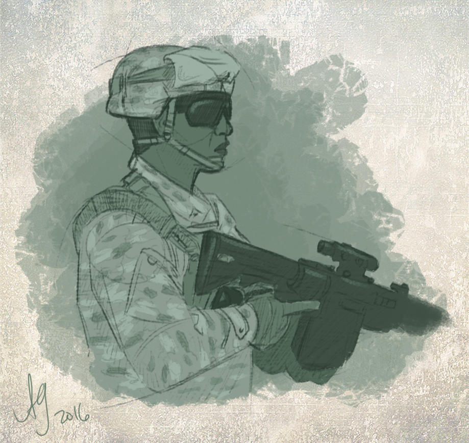 Soldier by kuabci