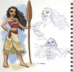 Moana With Splash of Color