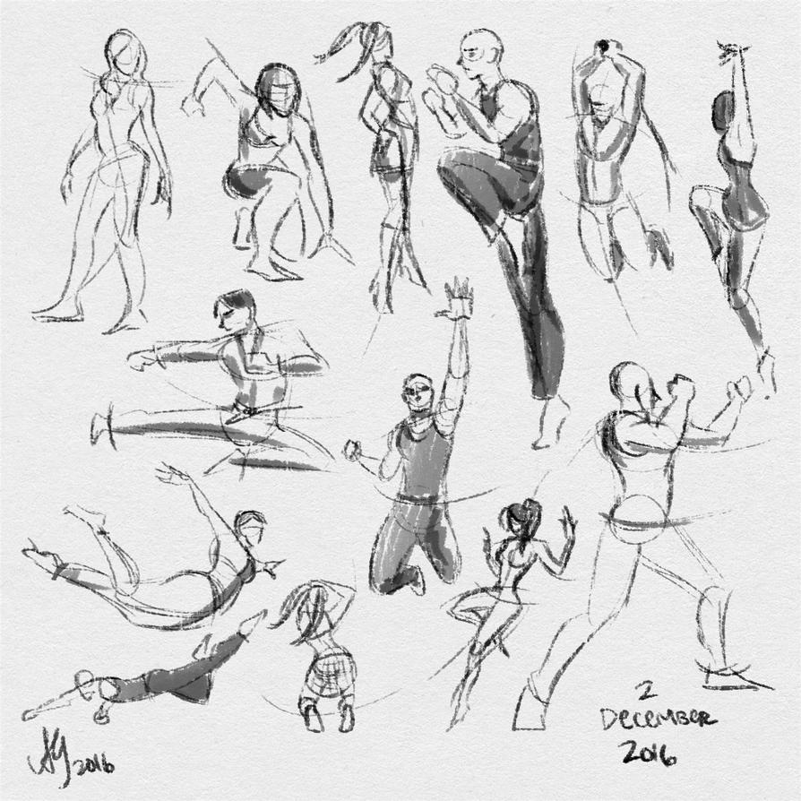 Fresh Figure Drawings 2 December 2016 by kuabci