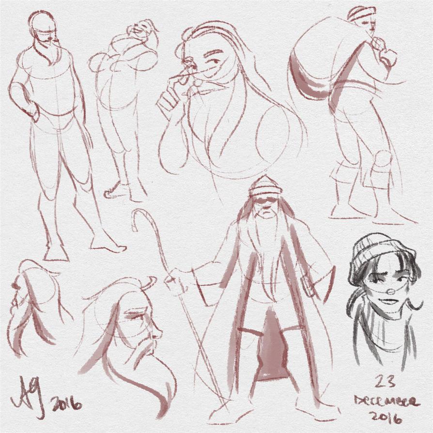 Fresh Figure Drawings 23 December 2016 by kuabci