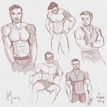 Fresh Figure Drawings 4 August 2017: Myles