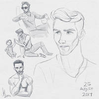 Fresh Figure Drawings 25 August 2017: Chad by kuabci