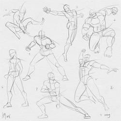 Fresh Figure Drawings 5 May 2018: Marvel