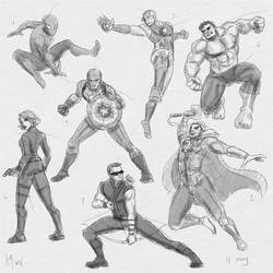 Fresh Figure Drawings 11 May 2018: Marvel2