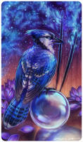 Tarot : TWO OF WANDS (+timelapse process video!) by leptailurus-serval