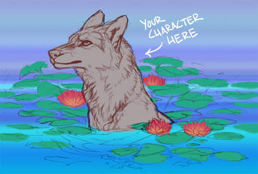 [YCH] waterlilies (BIDDING CLOSED!) by leptailurus-serval
