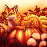 [commission] autumn icon : enderkitsune