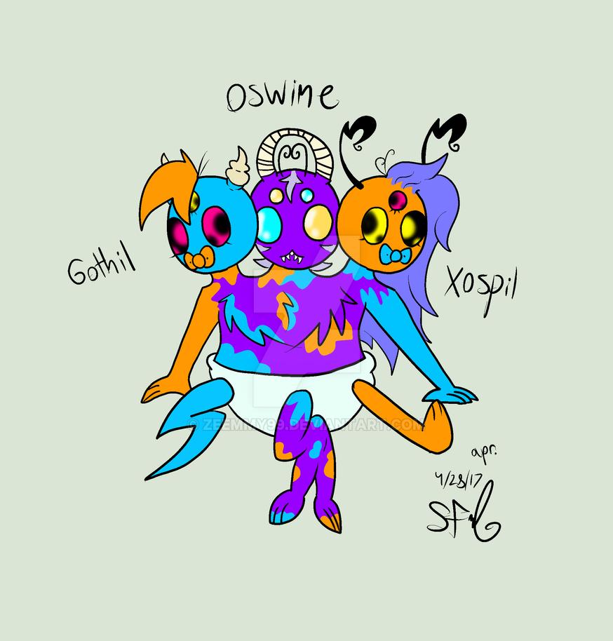Three headed baby by Zeemmy99 on DeviantArt
