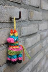 Crochet Pinata Keychain