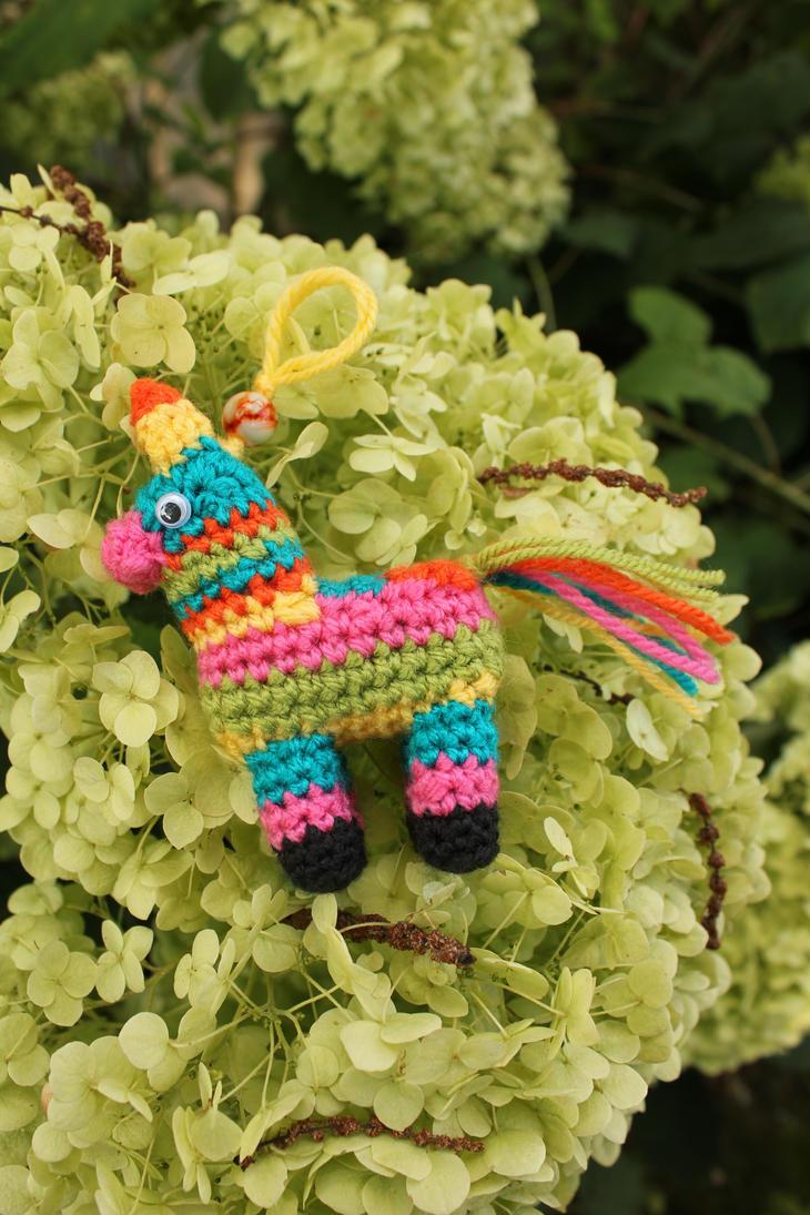 Crochet Pinata Keychain by jolieke10