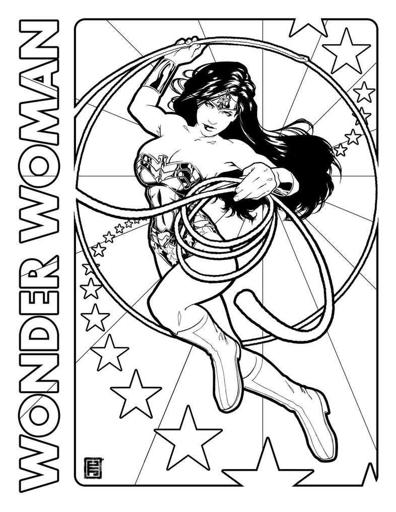 Wonder Woman Day coloring page