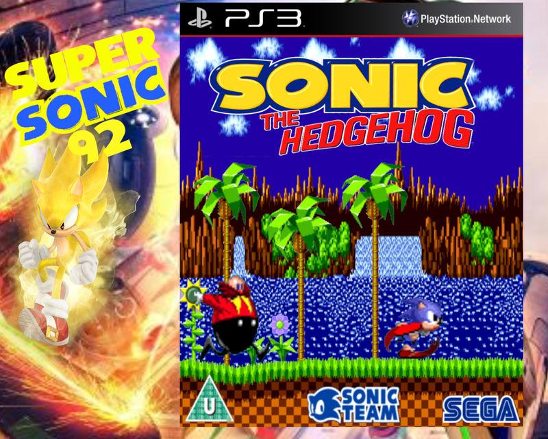 Sonic The Hedgehog 1 Box Art