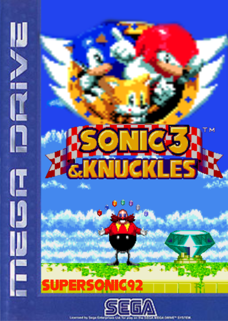 sonic 3 and knuckles box art by supersonic92 on deviantart. Black Bedroom Furniture Sets. Home Design Ideas