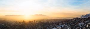 Salt Lake City Winter Sunset by uberfoto