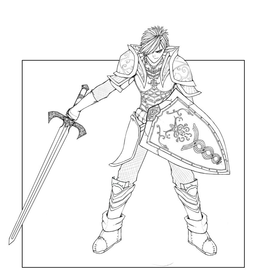warrior coloring pages for kids | An Elven Warrior by Nanimo on DeviantArt