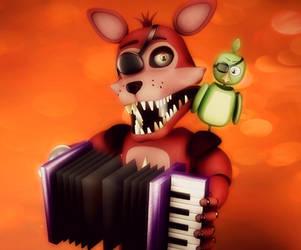 Rockstar fox by RedGekkouga