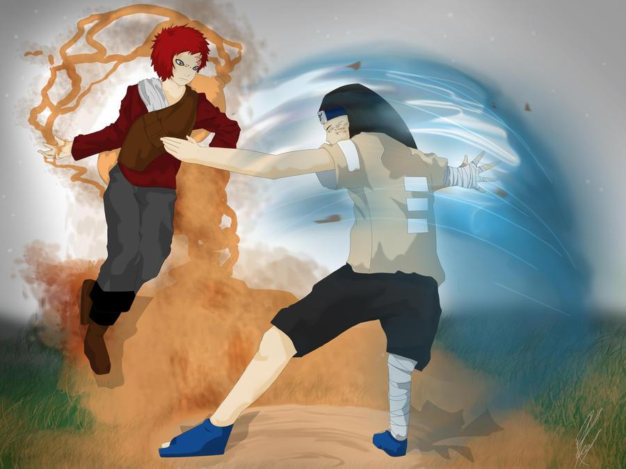 neji vs gaara by ChrisJRees on DeviantArt Gaara And Neji