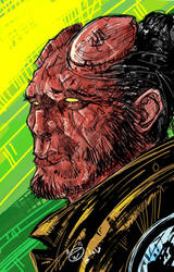 A Drawing Of Hellboy