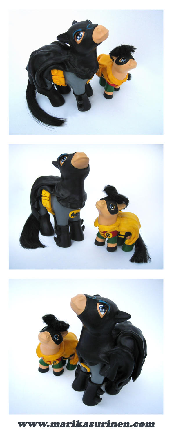 My Little Batman and Robin 60s by Spippo