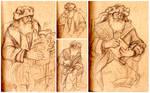 Life Drawing - Father Christmas
