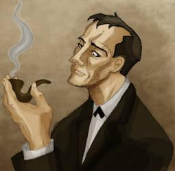 Sherlock Holmes by vanessadraws