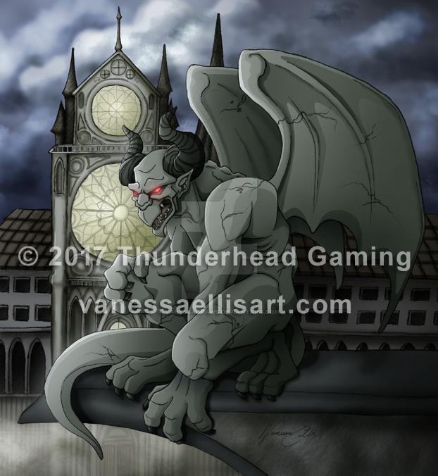 Commission:  Gargoyle by vanessadraws