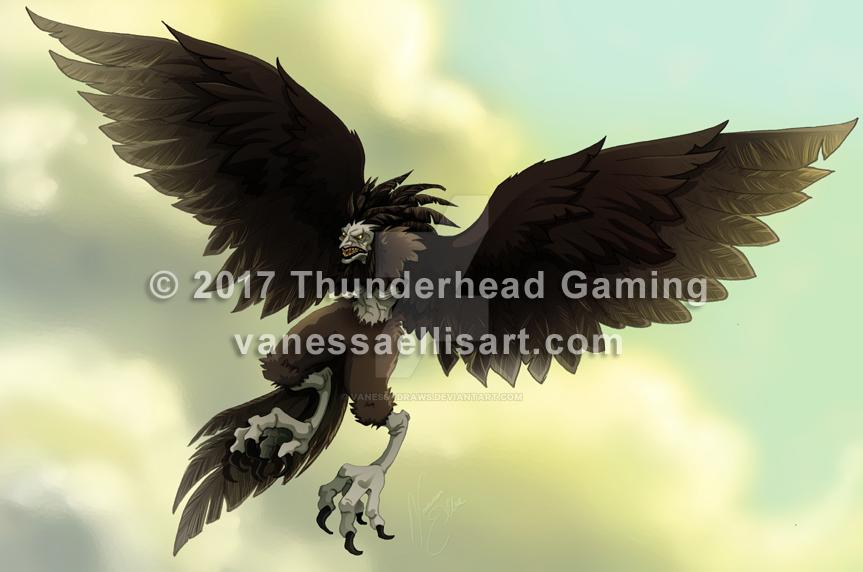 Commission:  Harpy by vanessadraws