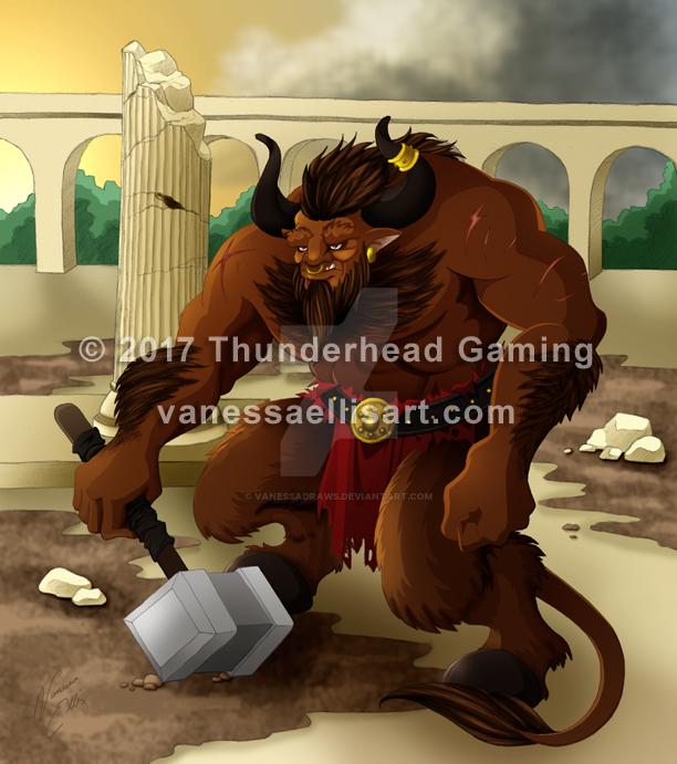 Commission:  Minotaur by vanessadraws