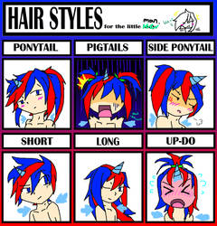 HairStyle Meme - [HUMAN] Cryoflare Staillion by LunaticSnivy