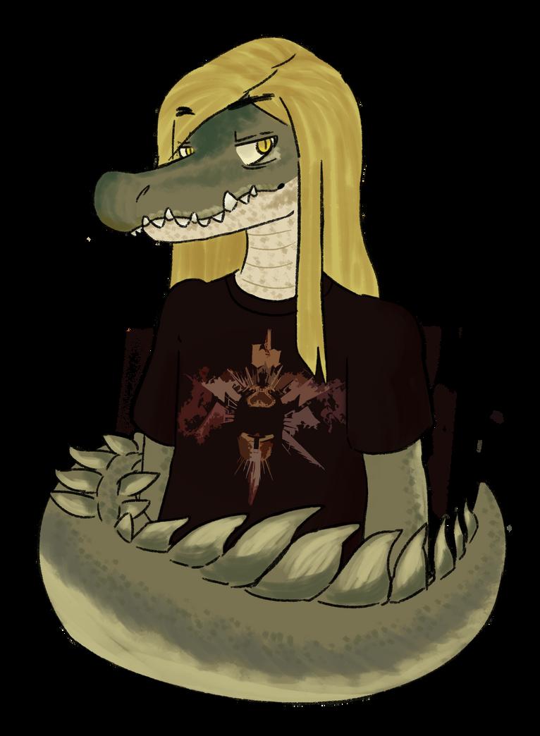 Croc Fursona by katestrife