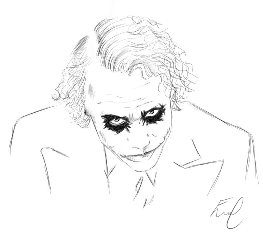 The Joker Line Art : Heath ledger s the joker by emmiejt on deviantart