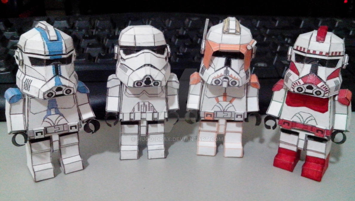 star wars clone troopers lego papercraft by hugo drax on deviantart. Black Bedroom Furniture Sets. Home Design Ideas