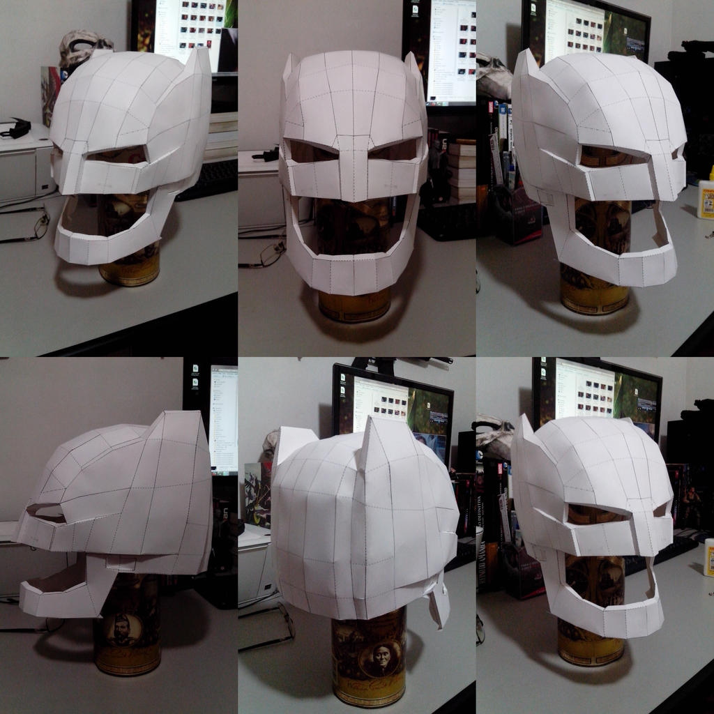Batman V Superman Dawn Of Justice Papercraft Helm By Hugo