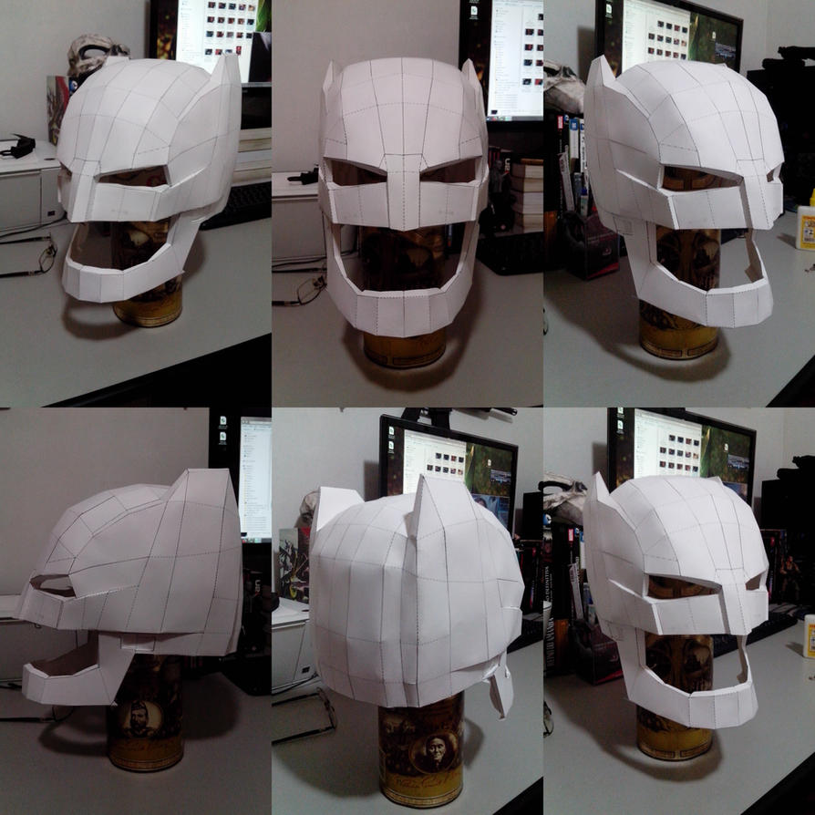 Batman V Superman Dawn Of Justice Papercraft Helm By Hugo